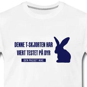 Denne t skjorten har vært testet på dyr, den passet ikke