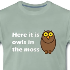 Here it is owls in the moss!