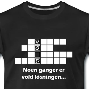 kryssord Premium T skjorte for menn | Spreadshirt
