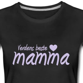 Kule T skjorter Nettbutikk: Verdens beste mamma t skjorte